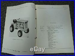 International Harvester IH Model 107 Cub Cadet Tractor Parts Catalog Manual Book