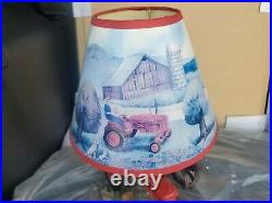 International Harvester McCormick Farmall M Tractor 14 Table Lamp With Shade