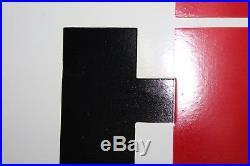 International Harvester Parts 2-sided Porcealin Sign Service Dealer Gas Tractor