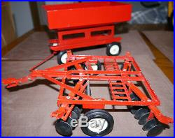 International Harvester Tractor Model 1586 Dual Wheels and 2 implements ERTL