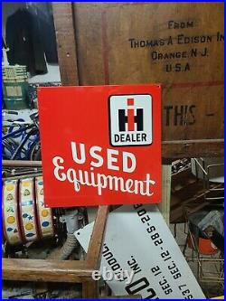 International Harvester Used Equipment Sign feed barn Tractor gas oil Steam