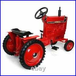 International Harvester Wide 1466 Black Stripe Pedal Tractor with Muffler ZSM1227