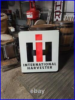Internatonal Harvester IH Double Sided Sign Gas Oil Farm Tractor Dealer