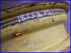 John Deere JD Tractor front 18 x 5.5 Pressed steel 3211R rim 4.5 center hole
