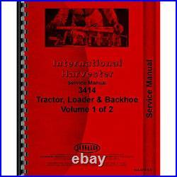 Loader Backhoe Service Manual for International Harvester 3414 Tractor