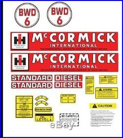 McCORMICK INTERNATIONAL BWD6 TRACTOR DECAL SET