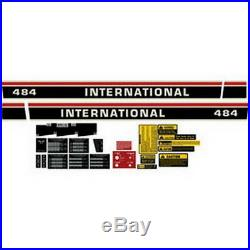 New 484 International Harvester Tractor Complete Decal Kit High Quality
