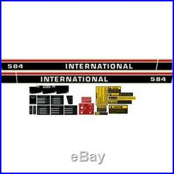 New 584 International Harvester Farmall Tractor Decal Kit High Quality