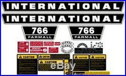 New 766 International Harvester Farmall Tractor Complete Decal Kit