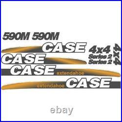 New Fits Case 590M Extendahoe 4 x 4 Series 2 Backhoe Loader Decal Set