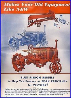 Old farm tractor pamphlet brochure Farmall IH International Harvester 1940's
