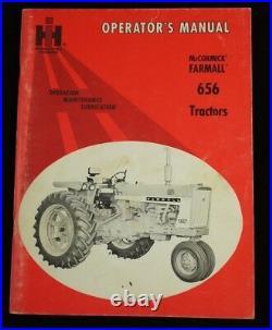 Original IH International Farmall 656 Tractor Owner's Operator's Manual 1966
