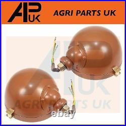 PAIR ORIGINAL TYPE International Harvester 444 B414 Tractor Headlights Headlamp