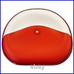 Pan Seat Cushioned Steel Vinyl Silver fits International Harvester 340 300 350
