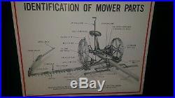 RARE McCormick Mower #9 Deering chart Farmall A Tractor Poster Board vtg lot IH