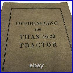 RARE Overhauling the Titan 10-20 Tractor Manual International Harvester A172J16
