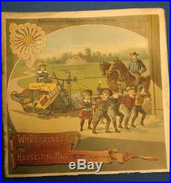 RARE orig 1890 HARVESTER Machinery CATALOG Wm Deering TRACTOR International IH
