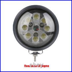 Round 40W LED Tractor Light Spot Beam With Rubber Bezel For John Deere / Case IH +