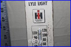 SCARCE 1930's INTERNATIONAL HARVESTER PAINTED WOOD THERMOMETER SIGN TRACTOR FARM