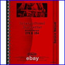 Tractor Manual Kit Fits Case IH International Harvester 274 285