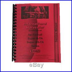 Tractor Service Manual For International Harvester Farmall Super M-TA