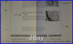 VINTAGE INTERNATIONAL HARVESTER TD-9 CRAWLER TRACTOR 27x41 LUBRICATION POSTER