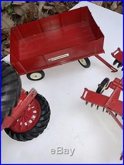 VTG 1970 Farmall 1026 International Harvester 116 Ertle Tractor Plow Wagon Disk