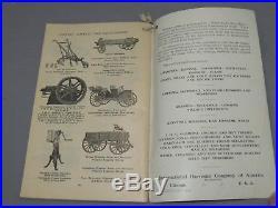 Vintage 1909 International Harvester IHC Almanac FIRST YEAR ISSUE Tractor Engine