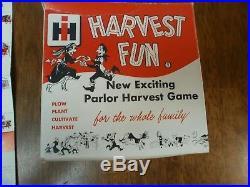 Vintage 1950's Rare Harvest Fun Board Game International Harvester Tractor