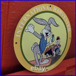 Vintage 1952 International Harvester Farmall Tractors Porcelain Gas & Oil Sign