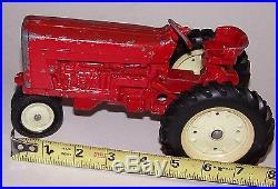 Vintage 1964 ERTL Co International Harvester Red Toy Tractor Die Cast Metal