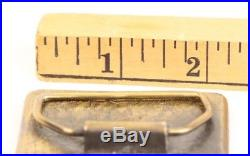 Vintage 1978 Brass Leather International Harvester Belt Buckle Farming Tractor