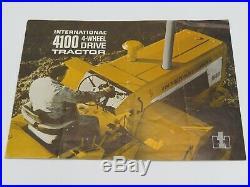 Vintage 4100 Yellow IH 4WD Tractor Sales Brochure International Harvester RARE
