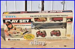 Vintage Ertl International Ih Dealership Play Set Scout Traveler Tractor Semi