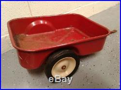 Vintage IH International Harvester pedal tractor wagon cart trailer ertl