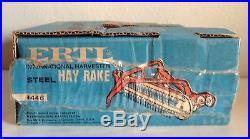 Vintage IH International Hay Rake Blue Box Tractor Imp. ERTL 1/16 Hard to Find