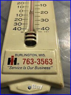 Vintage Ih International Harvester Farm Tractor 13 Metal Thermometer Sign