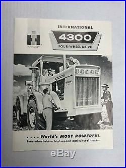 Vintage International 4300 Tractor Sales Brochure