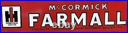 Vintage International Harvester 36porcelain Sign Farmall Mccormick Farm Tractor