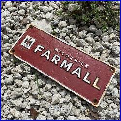 Vintage International Harvester Cast Iron Farmall Tractor Farm Advertising Sign