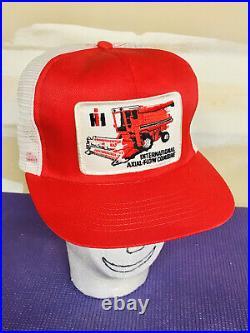 Vintage International Harvester Combine IH Swingster Mesh Snapback Hat USA Cap