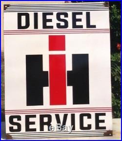 Vintage International Harvester Diesel Tractor Parts Sign. Vintage Tractor Sign