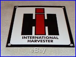 Vintage International Harvester Farm Tractors 10 Porcelain Metal Gasoline Sign