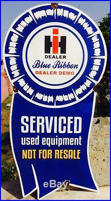 Vintage International Harvester IH Blue Ribbon Tractor Dealer Sign. Vintage Sign