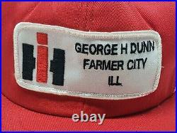 Vintage International Harvester IH Two 2 Stripe Swingster Mesh Snapback Hat USA