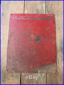 Vintage International Harvester Metal Sign Tractor Ford Ferguson Deere Case Oil