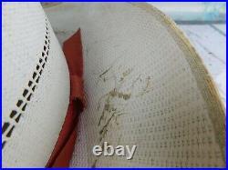 Vintage International Harvester Straw Hat Original Tractor Advertising Farmer