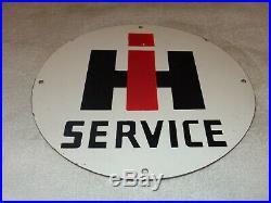 Vintage International Harvester Tractor 12 Porcelain Metal Gasoline & Oil Sign