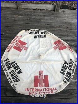 Vintage International Harvester Tractor Cloth Umbrella Agnew Farm Equipment Ohio