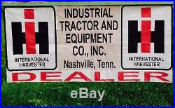 Vintage International Harvester Tractor Sales Advertising Sign Banner Nashville